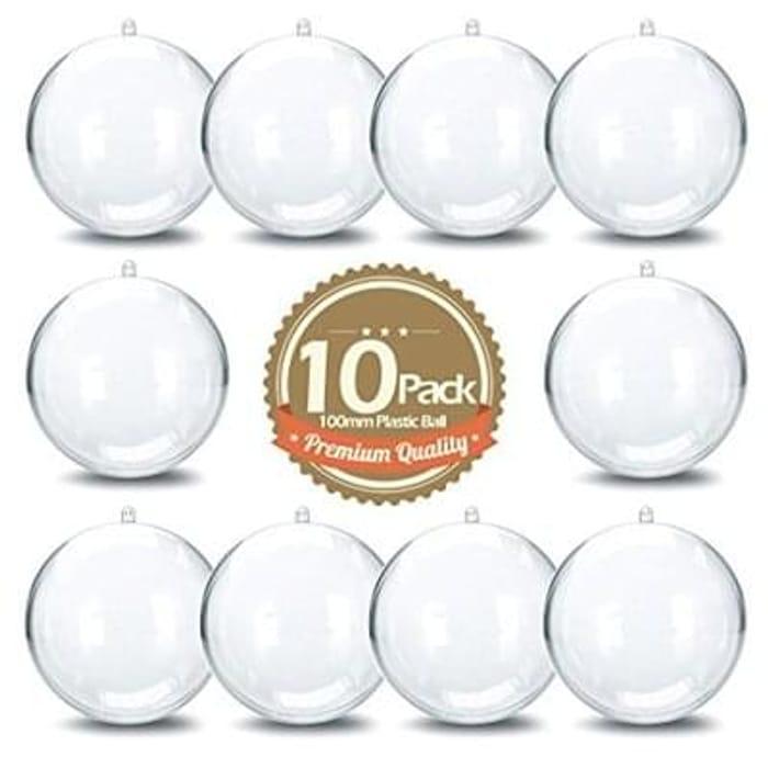 Clear DIY Plastic Acrylic Fillable Ball Ornament