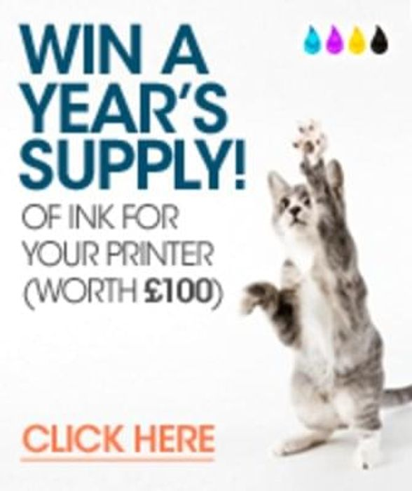 Win a year's supply of ink for your printer