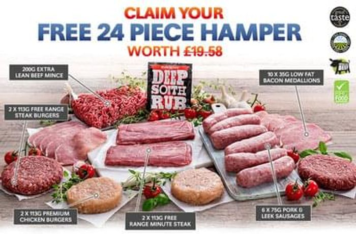Free 24 Piece Lean Meat Hamper with Selected Orders Over £25