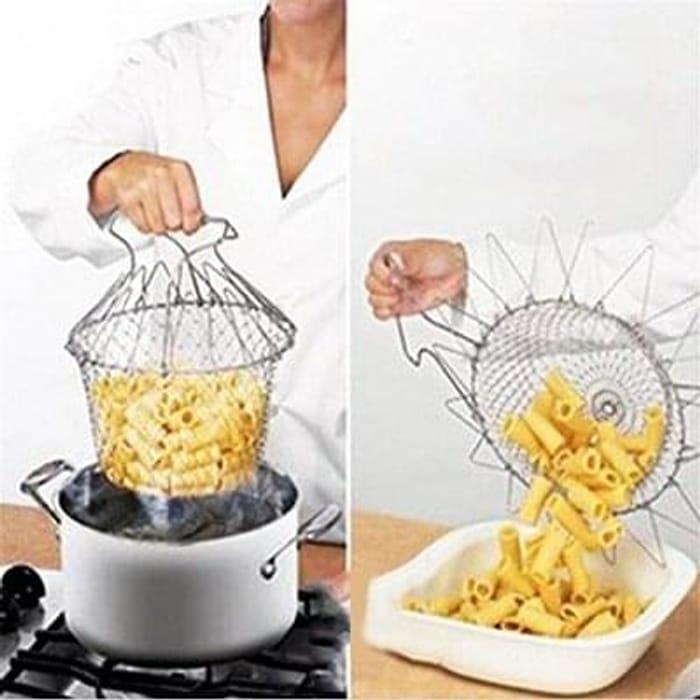 Foldable Frying Basket Strainer Washable Gadgets