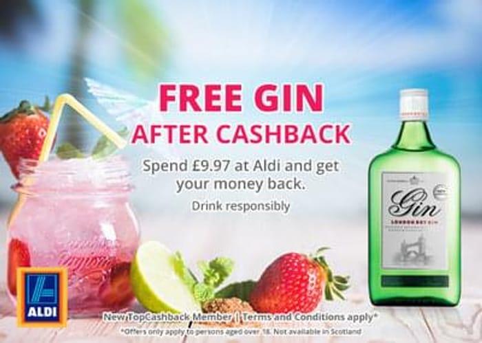 Free Gin after cashback