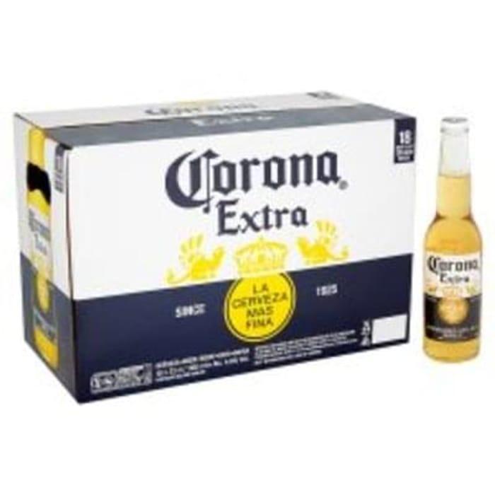 Tesco - Corona Extra 18 X 330Ml (with free ice bucket*)