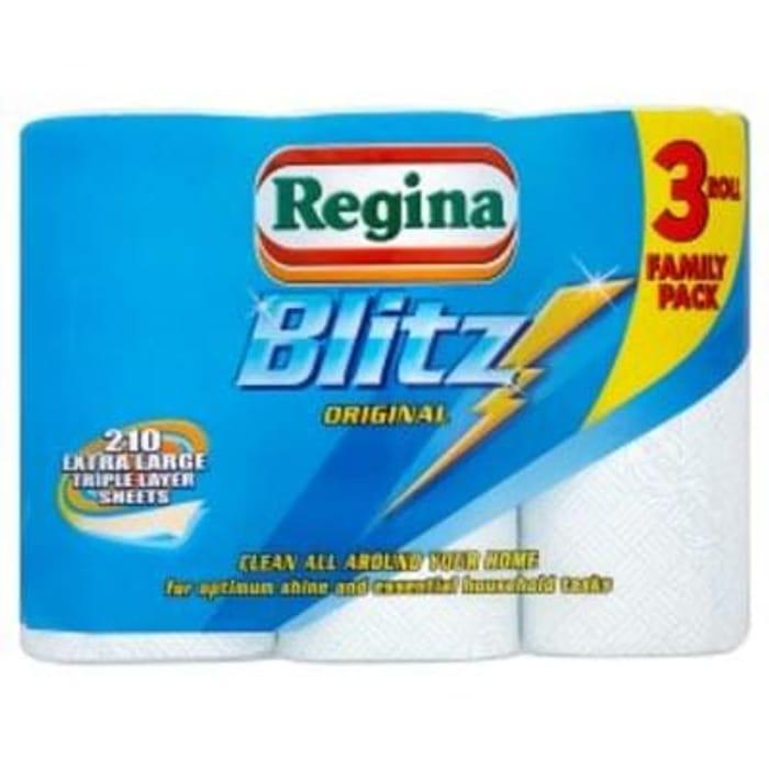 Regina Blitz XL Kitchen Rolls 3 Pack Save £1 Free C+C