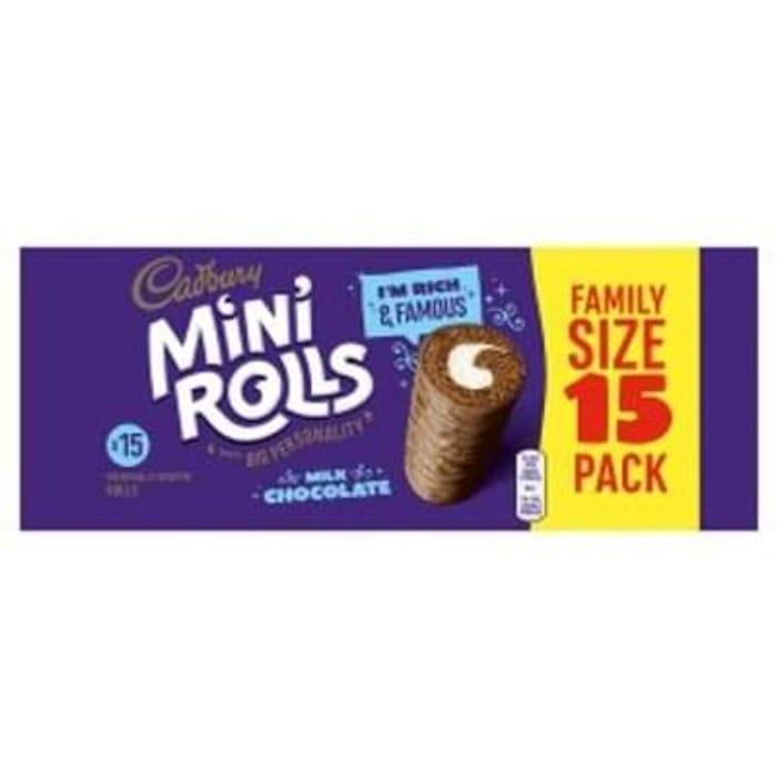 Cadbury Milk Chocolate Mini Rolls 15 Pack