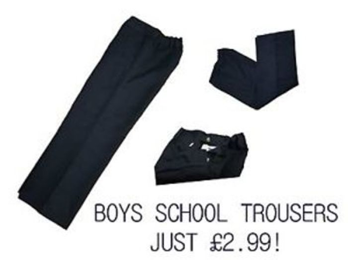 Boys school trousers 2-6 years Free Delivery
