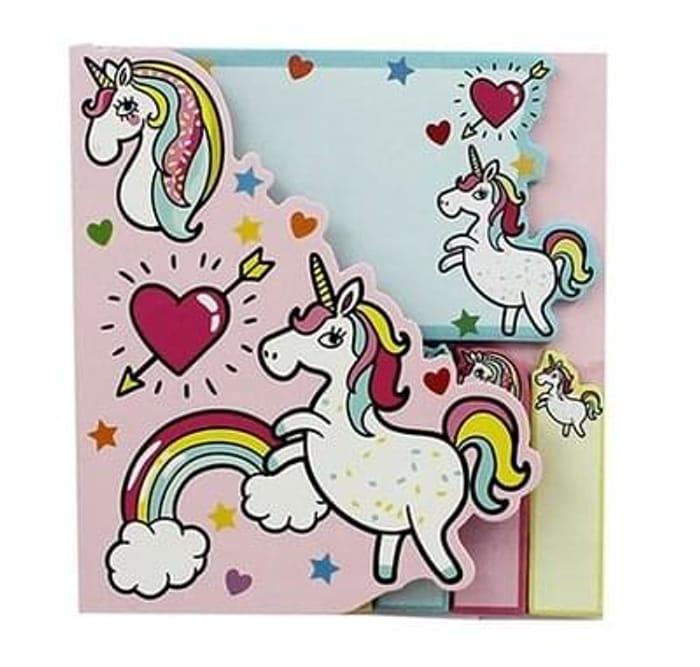 Unicorn Sticky Notes And Tab Set
