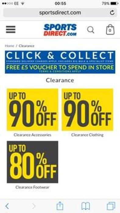 Up to 90% off clothing