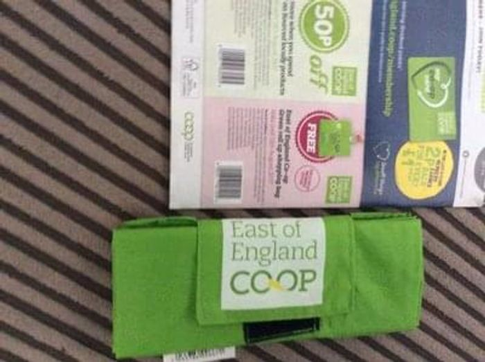 IN STORE ONLY free co-op roll up bags
