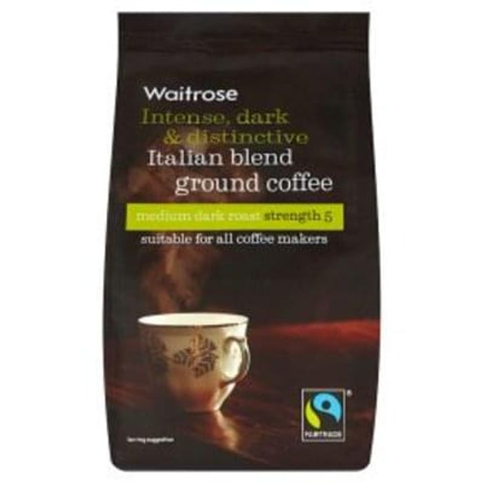 Waitrose cafetiere 227g bags of ground coffee (italian or french blend)