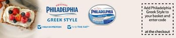 Free Philadelphia Greek style cheese