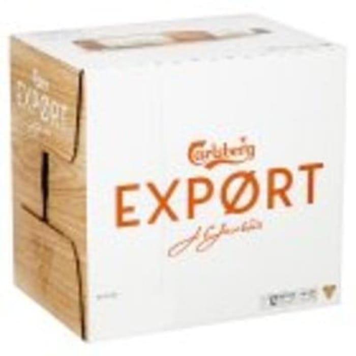 12 x 330ml Carlsberg Export and get a free Carlsberg Glass - £9.50 at Sainsbury