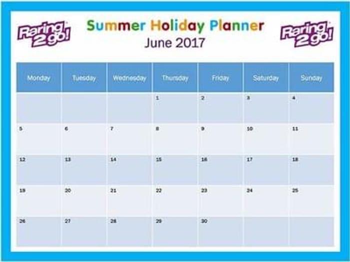 Free summer planner