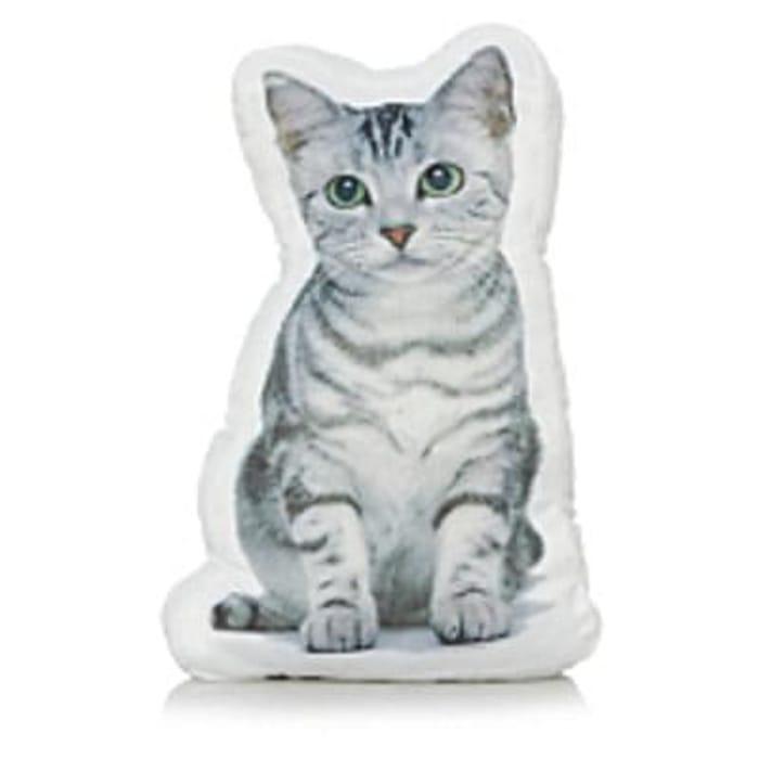 Shaped Cat Cushion Save £2 Free C+C