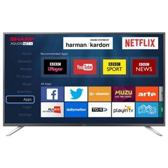 Sharp 49 Inch Smart Full HD LED TV with Freeview HD Free C+C