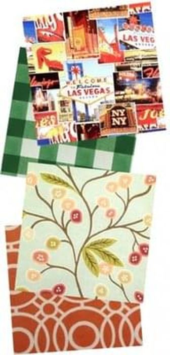 Your free samples of JustWipe vinyl tablecloths