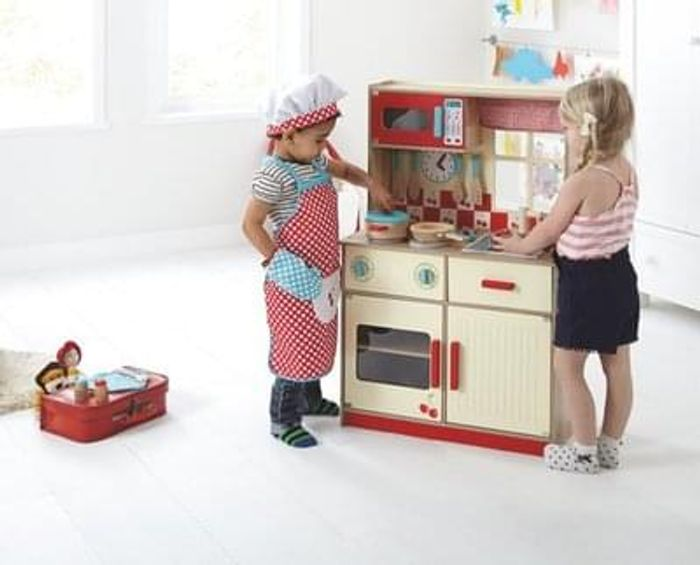 Deluxe home play kitchen