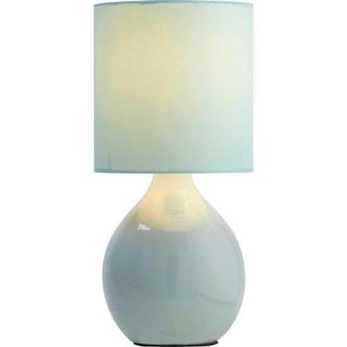 ColourMatch Round Ceramic Table Lamp - Jellybean Blue Free C+C