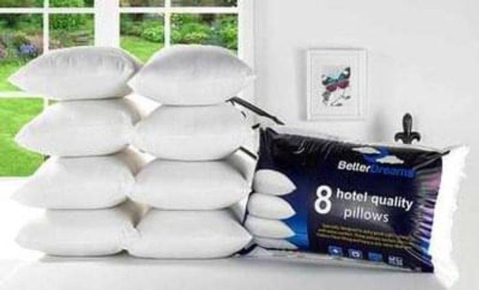 8 Better Dreams Non-allergenic Fibre-Filled Pillows