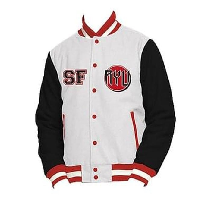 Official Street Fighter V Ryu Varsity Jacket Available in Sizes S/M/L/XL