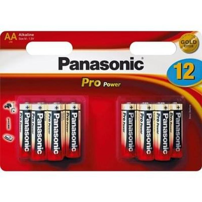 Panasonic Pro Power AA Batteries - 12 Pack Lowest Price Free C+C