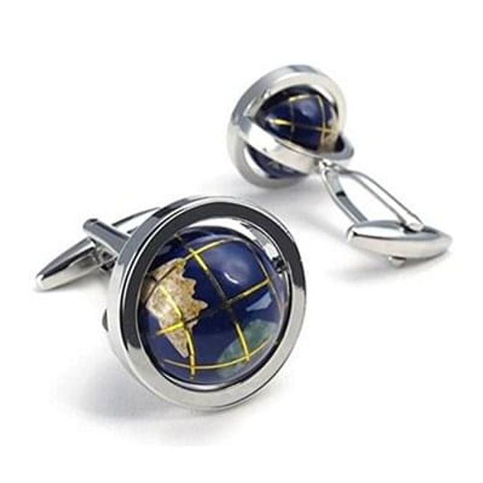 Mens Globe Shirts Cufflinks free delivery