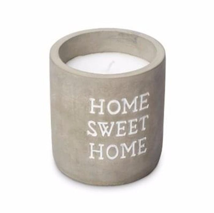 HOME SWEET HOME CONCRETE VANILLA JAR CANDLE Save £3 Free C+C