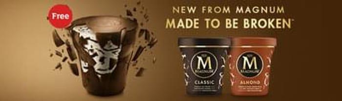 Free Magnum Ice Cream Tub
