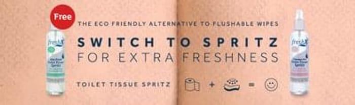 Free FreshX Toilet Tissue Spritz