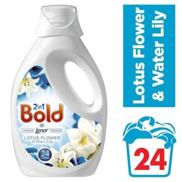 Bold 2in1 Lotus Flower & Lily Washing Liquid 24 washes 1.2L