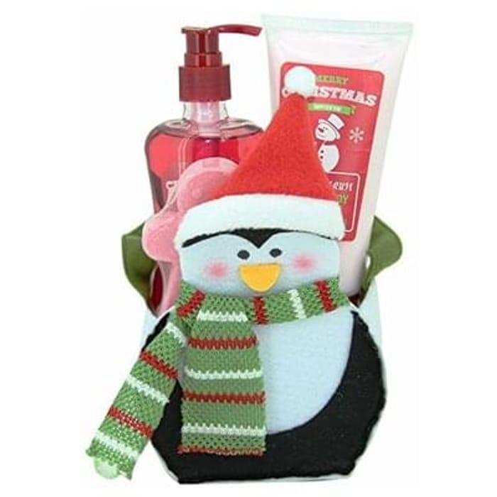 Gloss! Merry Christmas White Mulberry Penguin Bath Gift Set - 3-Piece