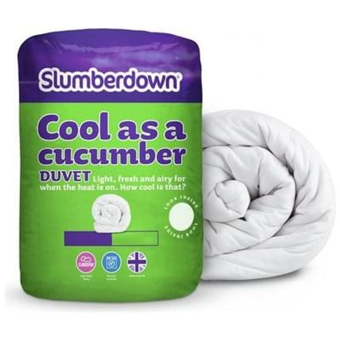 Slumberdown Cool as a Cucumber 4.5 Tog Duvet - Single £9.49 each or 2 For £15