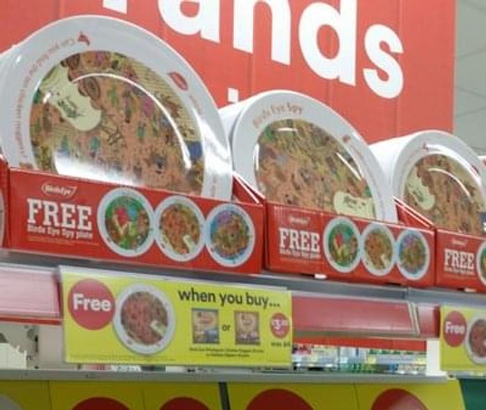 FREE Birds Eye plate (with purchase) at ICELAND
