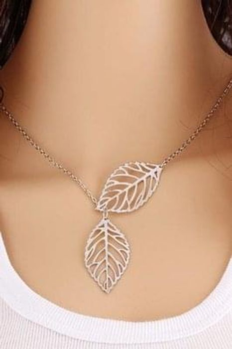 2017 Two Leaves Necklace