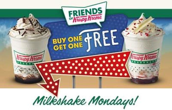 Buy1get1free milkshake