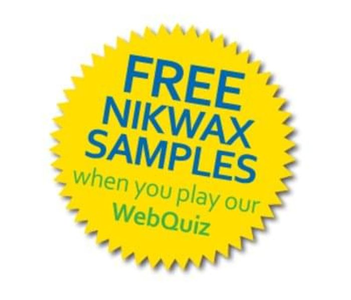 Free Nikwax sample via quiz