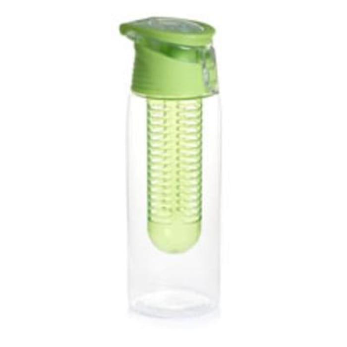 Wilko Fruit Infuser Bottle Green/Purple 700ml