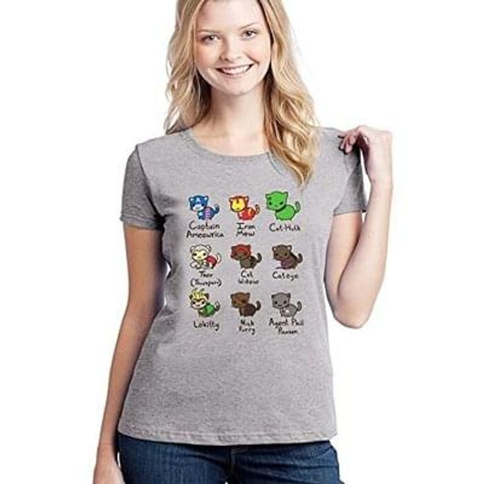 Cat Avengers Ladies T-Shirt