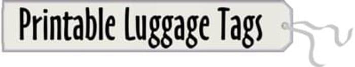 Printable luggage tags