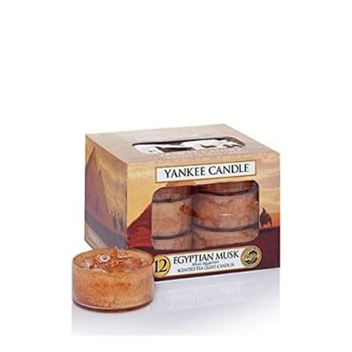 Yankee Candle Tea Light Candles, Egyptian Musk, Pack of 12