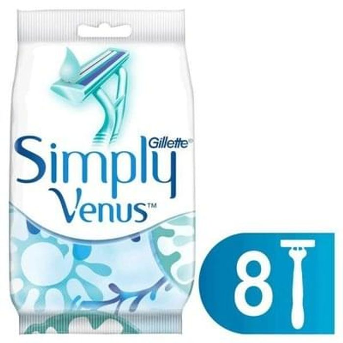 Gillette Simply Venus 2 Women's Disposable Razors x8 Free C+C