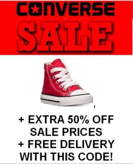 WOW! WOW! WOW! EXTRA 50% OFF Converse Sale Prices with CODE