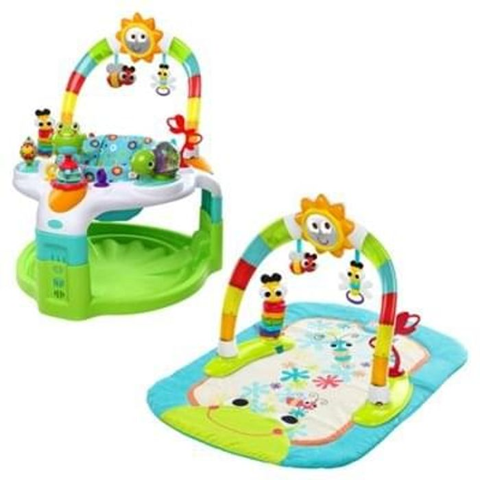Bright Starts 2-in-1 Laugh & Lights Activity Gym & Saucer