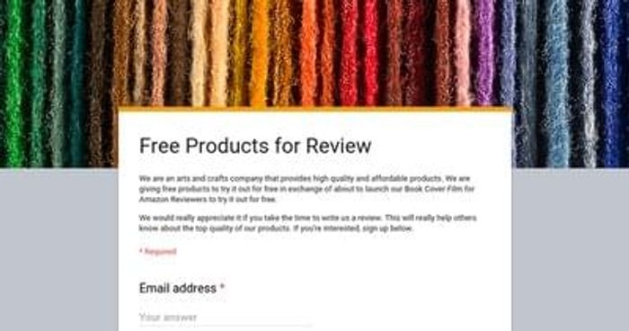 Arts and crafts company are looking for testers for their products.