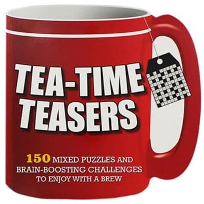 Tea Time Teasers mug full of puzzles Save £4.99 Free C+C