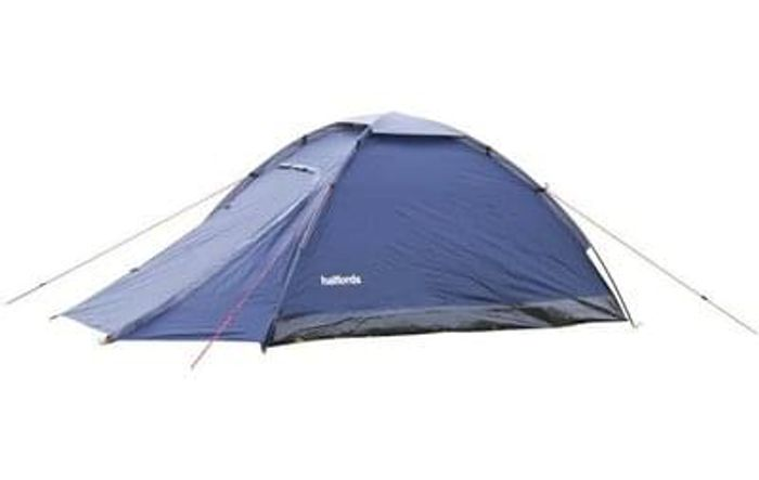 Amazing Price! Halfords 2 Man Dome Tent With Porch - Dark Blue