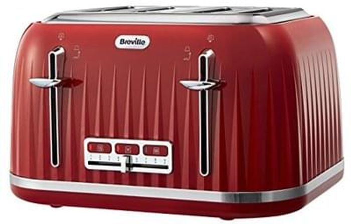 WOW! PRIME EXCLUSIVE: Breville 4 Slice Toaster (Red). BETTER THAN HALF PRICE!