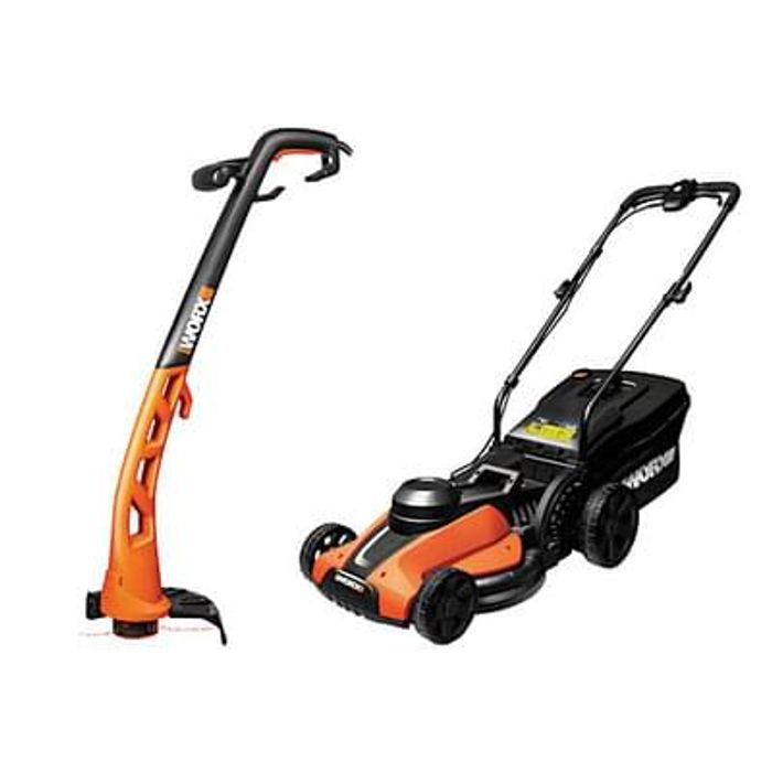 50% off lawn mower and trimmer!