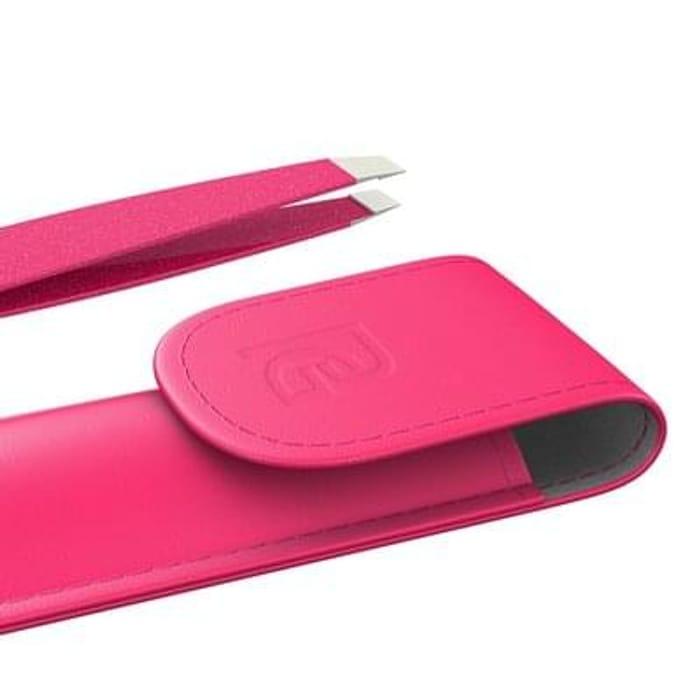 Pink tweezers with case 8p QUICK