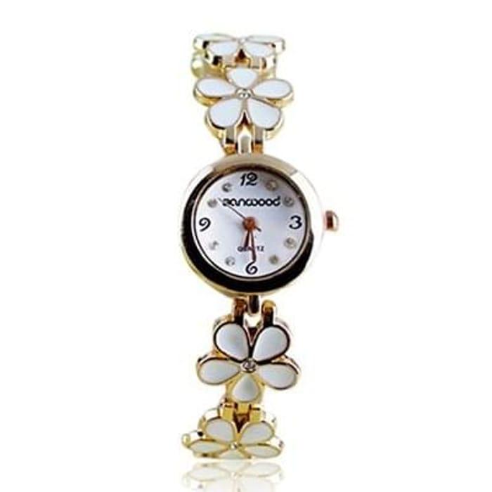 Womens Watch - Daisies Flower Rose Golden Bracelet Wrist Watches