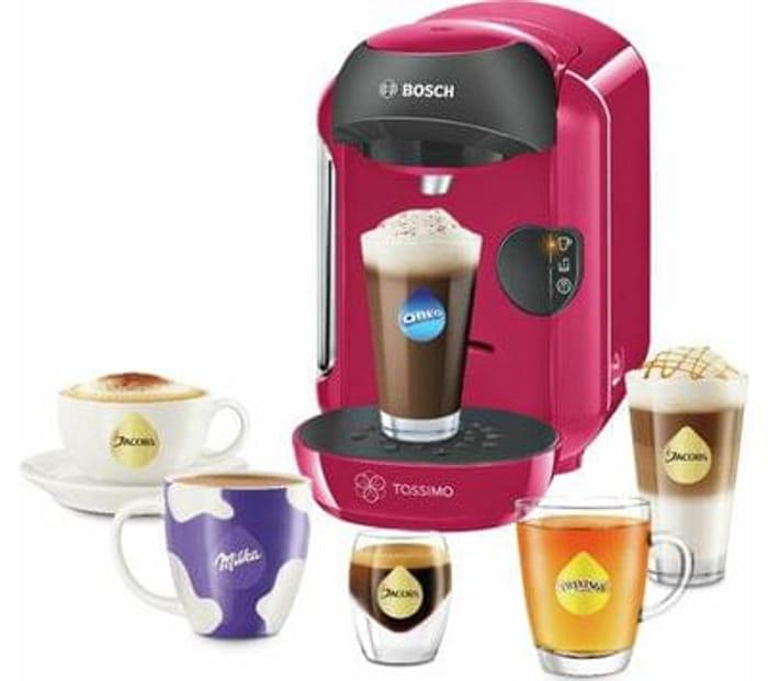 TASSIMO by Bosch Vivy II Hot Drinks Machine - Pink Save £20.01 Free C+C